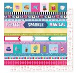 American Crafts - Sparkle City - Perfect Day 12 x 12 Paper